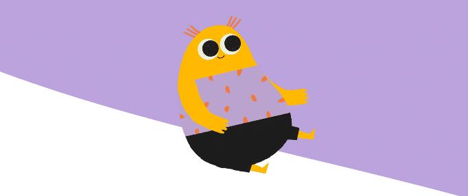 eltern lesen lernen - gelbe Figur