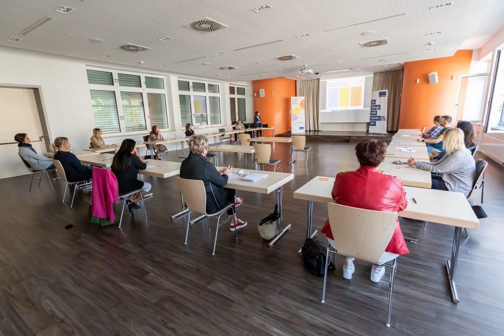 """Auftakt-Veranstaltung der der Stiftung Lesen in Korbach von """"eltern lesen lernen"""", 09/2020<br /> Foto: Artur Worobiow"""